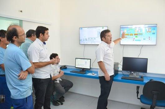 Com o sistema de telemetria, técnicos do Saae conseguem ter, na sede da autarquia, informações em tempo real