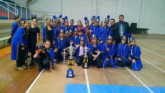 A Banda Marcial de Santo Antônio de Posse conquistou o 1º lugar de linha de frente em duas categorias