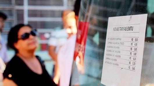 Itinerários que passam pela cidade sofreram reajuste que vão de R$ 0,55 a R$ 1,05 \Foto: Nogueirense/EMTU