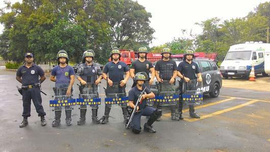 Grupamento está sendo formado com oito guardas municipais, que passam por treinamento tático