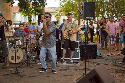 Banda Freddy Groovers foi uma das principais atrações \ Foto: Rafaela Alves