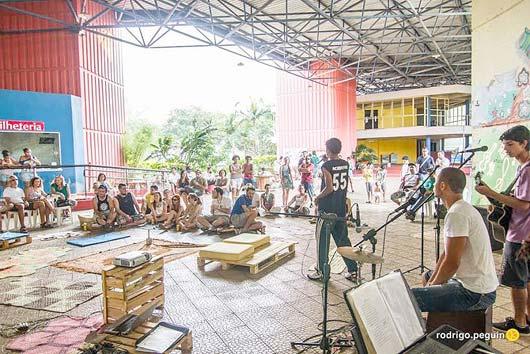 O evento abre oportunidades para apresentações musicais