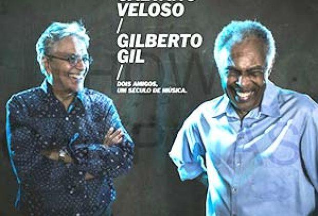Caetano e Gil se apresentam nesta sexta em Jaguariúna