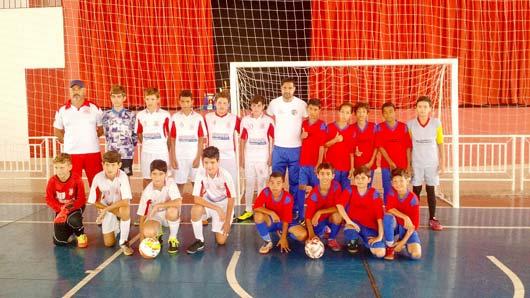 Equipe de futsal Sub-12 da Prefeitura de Santo Antônio de Posse
