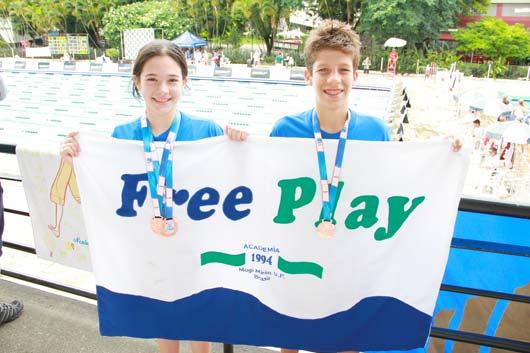 Nadadores da equipe Free Play/Sejel tiveram bons desempenhos