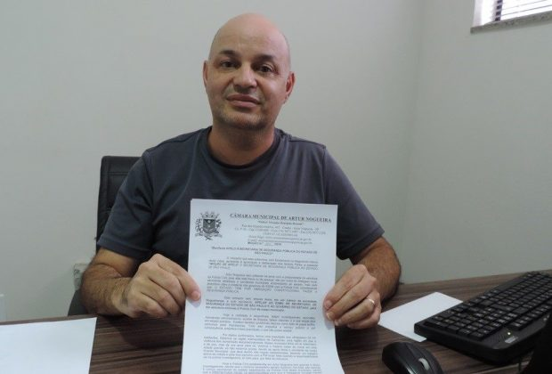 Silvinho Conservani apresenta moção de apelo à Secretaria de Segurança Pública