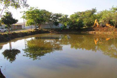 Termina limpeza na lagoa do Jardim Europa
