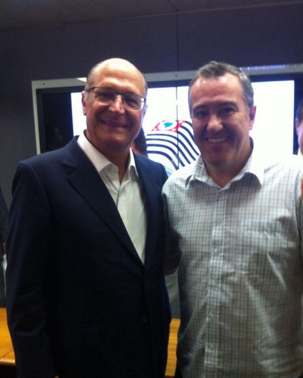 Geraldo Alckimin e o Secretário de Saúde, Dr. Luis Marcelo.