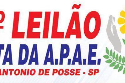 APAE promove leilão no dia 16 de abril