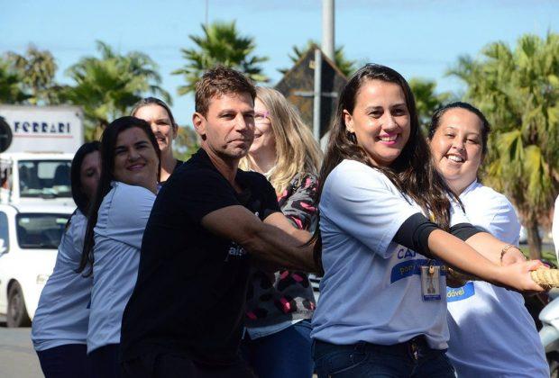 Marcio Atalla do projeto Vida de Saúde participou do Dia do Desafio em Jaguariúna