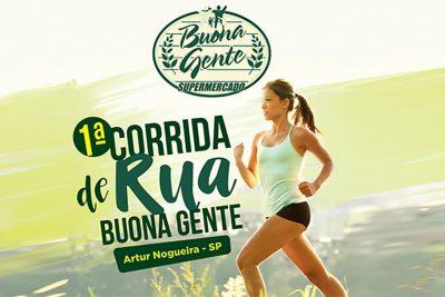 1ª Corrida de Rua Buona Gente acontece no dia 29 de maio em Artur Nogueira