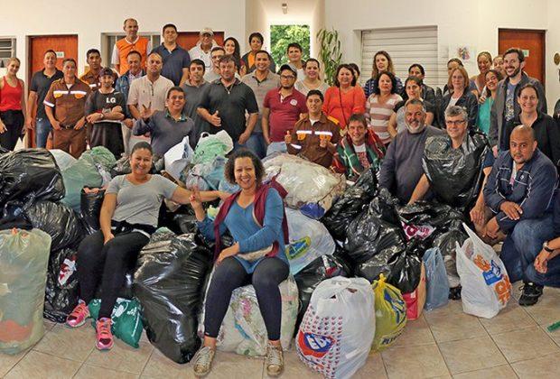 Arrastão da Campanha do Agasalho reúne mais de duas toneladas em doações em Holambra