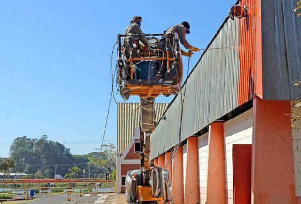 Iniciada a reforma do Ginásio Municipal em Holambra