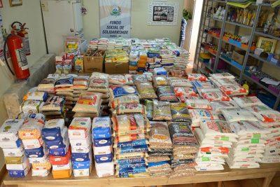 Fundo Social de Solidariedade recebeu doação de quase 1,2 mil de alimentos