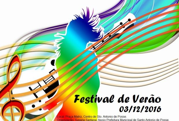 Festival de Verão acontece neste sábado em Posse