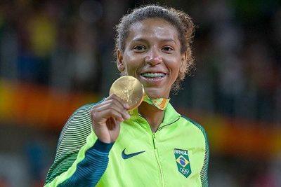 Medalhista Rafaela Silva é a estrela no Ginásio do Furno nesta terça, 21