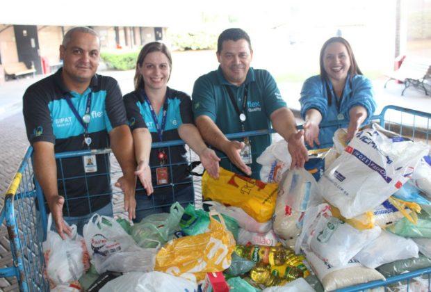 Fundo Social recebe alimentos doados por colaboradores da Flextronics