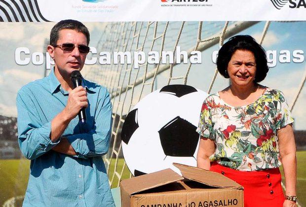 Fundo Social recebe doações da Artesp no encerramento da Copa Campanha do Agasalho