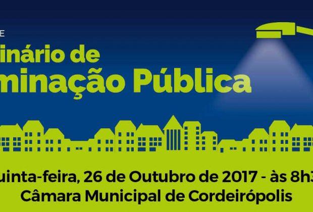 CONSAB realiza seminário sobre Iluminação Pública em Cordeirópolis no dia 26