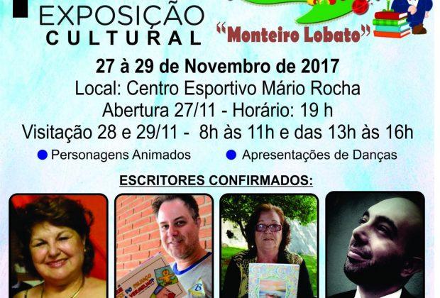 """Dia 27 acontece em Estiva Gerbi a 1ª Exposição Cultural """"Monteiro Lobato"""""""