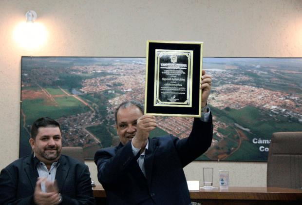 Deputado Roberto Alves recebe o título de 'Cidadão Cosmopolense'