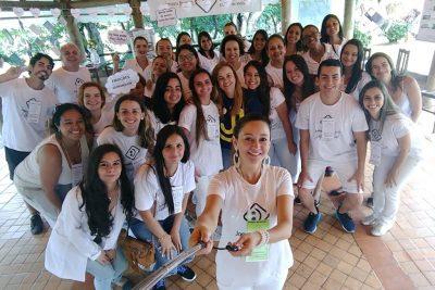 Alunos e professores da UniFAJ participaram de ação social para os cuidados com a saúde mental