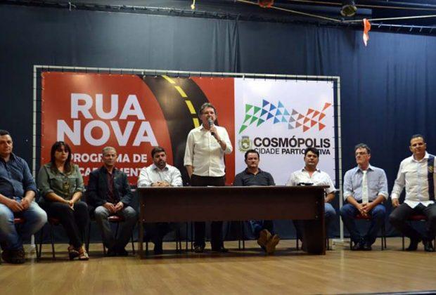 """Prefeitura Municipal de Cosmópolis lança o programa de recapeamento """"Rua Nova"""""""