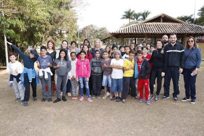 Alunos da Escola Irineu Espedito Ferrari participam de Gincana sobre coleta seletiva
