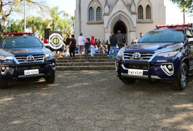 Agentes de segurança são homenageados e Polícia Municipal de Jaguariúna ganha novas viaturas
