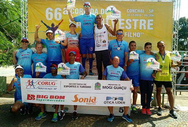 Atletas guaçuano participaram de prova pedestre em Conchal