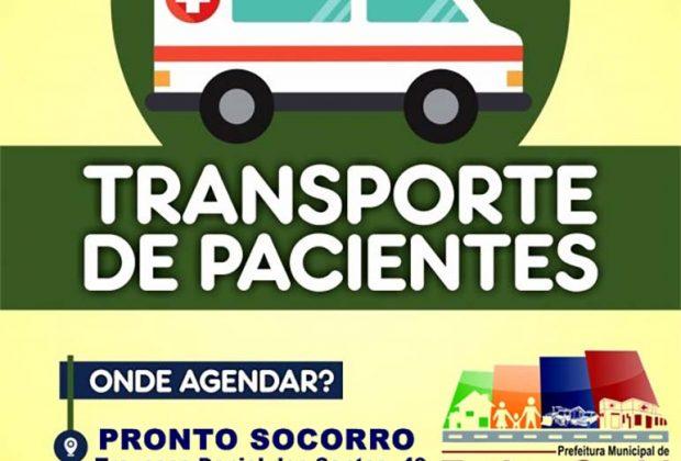 Pacientes que necessitam de transporte para AME's e hospitais da região precisar realizar agendamento antecipado