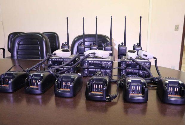 Guarda Municipal recebe doação de rádios transmissores