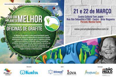 Oficinas gratuitas ensinam a arte do grafite em Artur Nogueira