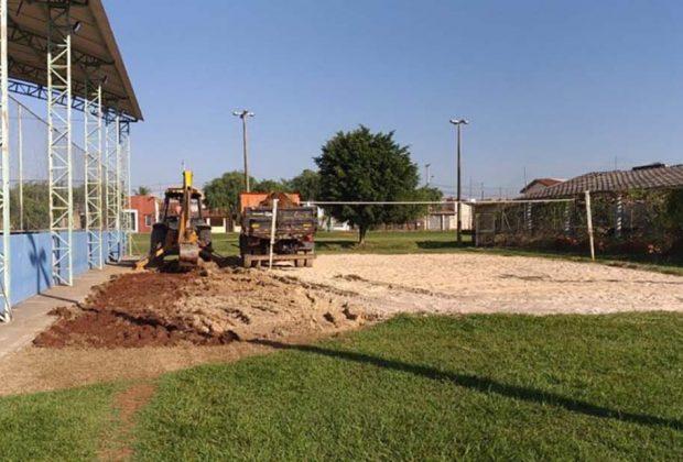 Prefeitura inicia revitalização de quadra de areia do Ginásio Municipal