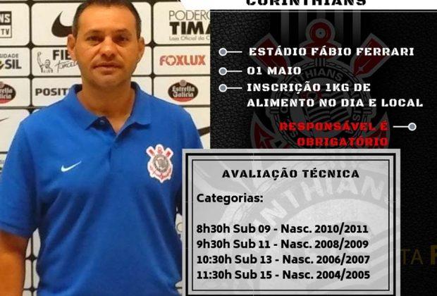 Em parceria com a Prefeitura, Corinthians fará avaliação técnica no Município