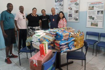 Evento arrecada donativos para entidade assistencial