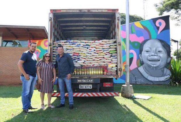 Prefeitura faz entrega de aproximadamente 3 toneladas de alimentos à entidades nogueirenses