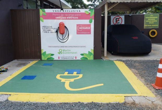 Primeiro eletroposto na Região Metropolitana de Campinas está situado no Restaurante e Confeitaria Martin Holandesa, em Holambra