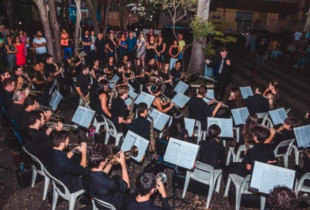 Banda Lira marca presença na Festa da Padroeira em Itapira