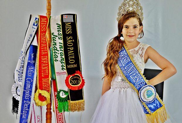 Garota de Cosmópolis é Miss Brasil Universo Mirim 2019 e se prepara para representar o Brasil no Miss Universo no Peru em novembro