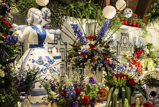 Exposição de arranjos florais da Expoflora resgata cultura e tradições holandesas