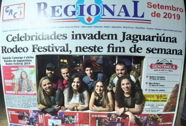 Painel de fotos do Jornal O Regional no Jaguariúna Rodeo Festival 2019