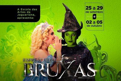 """O espetáculo """"Bruxas"""" – vai ser apresentado no Teatro Municipal de Jaguariúna este mês e também em outubro."""