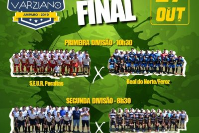 Grande Final do Varziano 2019 a elite do futebol amparense conhece seu campeão em 27 de outubro