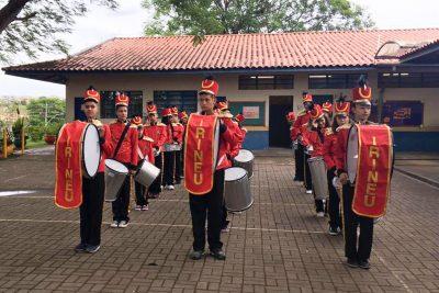 Ato Cívico com Fanfarra da E.M. Irineu Espedito Ferrari comemora Proclamação da República em Jaguariúna