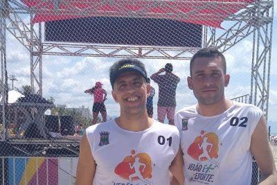 Dupla guaçuana termina na 4ª colocação no Torneio de Vôlei em Duplas, em Bertioga