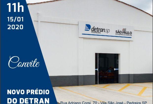 OR – Nova sede do DETRAN de Pedreira será inaugurada na quarta-feira, 15 de janeiro