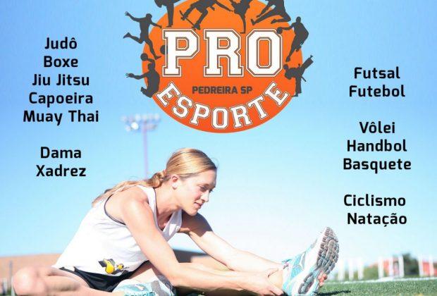 OR – Interessados em participar do Projeto Pró-Esporte devem realizar inscrição no site da Prefeitura de Pedreira