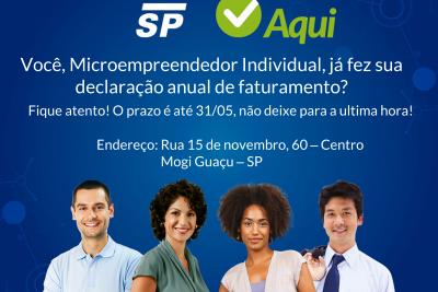 JP – Sebrae de Mogi Guaçu auxilia microempreendedores a realizarem a Declaração Anual de Faturamento