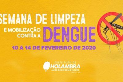 MOBILIZAÇÃO CONTRA DENGUE TERÁ CONSCIENTIZAÇÃO E COLETA DE ENTULHO EM HOLAMBRA